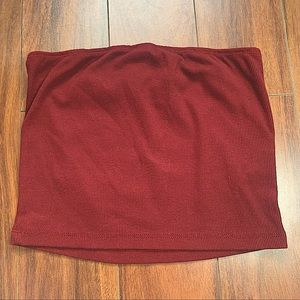NWOT SHEIN RED STRAPLESS TUBE TOP SIZE SMALL